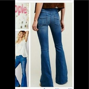 FREE PEOPLE kick flare jeans